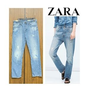 NWT Zara Free Spirit Easy Straight Relaxed Jeans